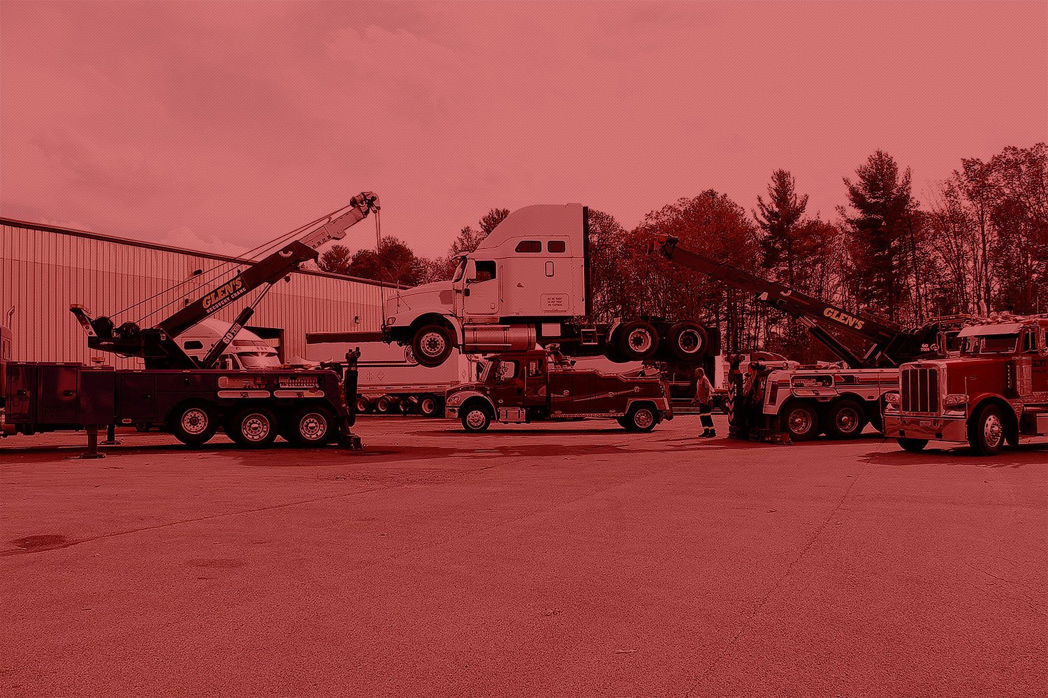 Glen's Towing Heavy Duty Rotators and Tow Truck Fleet Southern West Virginia